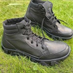 Tactical Russian Nubuck leather boots Assault type outdoor footwear Military combat wear Special troops boots Work footwear