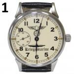 Reloj de pulsera alemán KRIEGSMARINE Tercer Reich oficiales navales Segunda Guerra Mundial