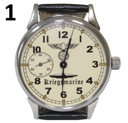 Orologio da polso tedesco KRIEGSMARINE Ufficiali navali del Terzo Reich Seconda Guerra Mondiale