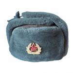 赤軍軍曹のヴィンテージイヤーフラップ冬ロシア帽本物の毛皮とウールロシア軍の帽子ミリタリーウォームトラッパーハット