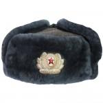Vintage russische sowjetische Armeeoffizier Earflap Warm Winter Ushanka Echte Militär Trapper Hut