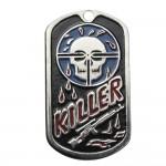 """USA Soldato Nome metallo militare Dog Tag """"Killer"""""""