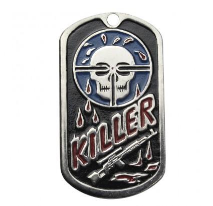 """Etiqueta engomada militar del nombre del metal """"KILLER"""""""
