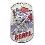 """U.S. Army military dog tag """"REBEL"""""""
