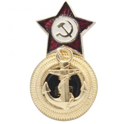 Soviet fleet USSR Naval Admiral s hat badge Cocarde
