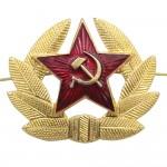Sowjetisches / russisches Militärabzeichen des roten Sternes
