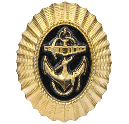 USSR MARINES Russian hat badge with anchor