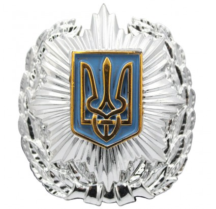 Ucrania MVS oficial de policía sombrero insignia