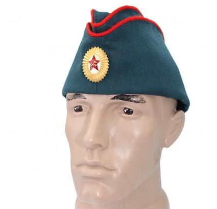 Russischen Offizier in der Armee Pilotka Hutgrün Militärmütze