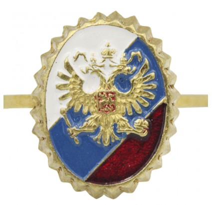 Security Service hat badge - Eagle on Russian Flag