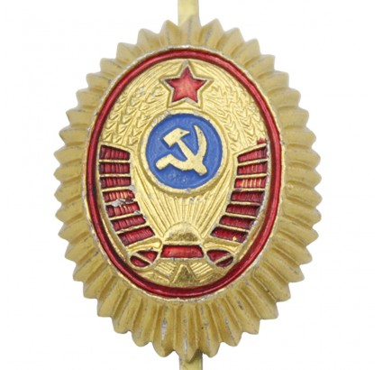 Soviet POLICE Officer COCKADE hat insignia