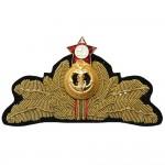 ソ連海軍艦隊本物の提督の帽子バッジソビエト連邦ヴィンテージカニ花形帽章オリジナルのロシアの帽子ピン