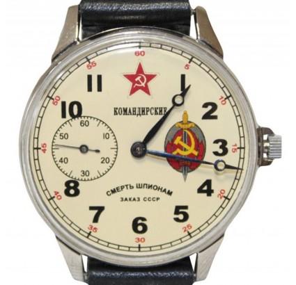 "Molnija ""Komandirskie""機械式ソビエト紳士腕時計"
