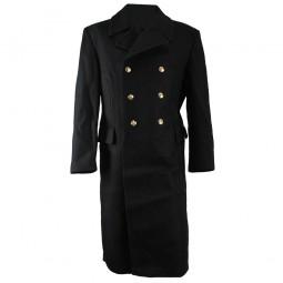 Warm Winter military coat Navy Fleet Russian army Naval genuine woolen long black Overcoat