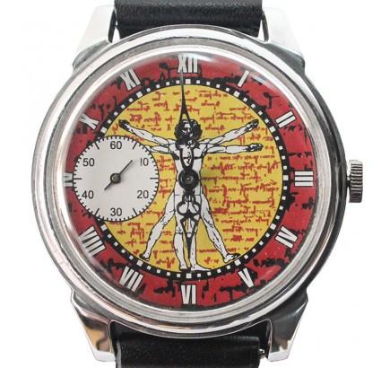 Molnija with Vitruvian Man Leonardo Da Vinci Russian wristwatch