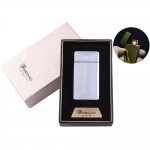 "Russian modern USB ""Broad"" pocket lighter with a gift box electronic silver cigarette lighter"