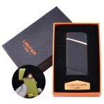 Russian modern USB black pocket lighter with a gift box electronic cigarette lighter