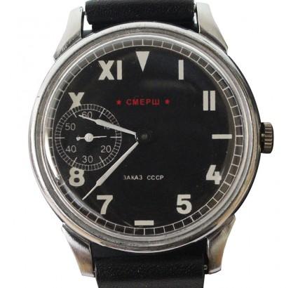"""Reloj ruso SMERSH Molniya """"muerte a los espías"""" hecho para GRU URSS"""
