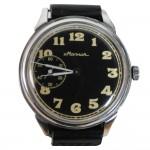 Reloj de pulsera mecánico clásico ruso de la esfera negra MOLNIJA