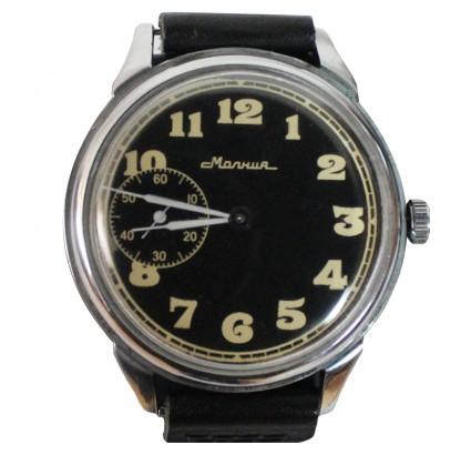 ロシア古典的な機械式腕時計MOLNIJAブラックダイヤル