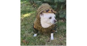 Tactical Russian Fleece Gorka Partizan camo hoodie Dog wear Waterproof military style Custom dog jacket Warm Outdoor pet clothing