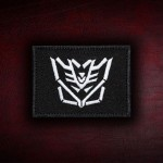 Decepticons Emblem Logo Transformers Embroidered Iron-on / Velcro Patch