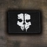 Patch thermocollant / velcro brodé avec logo du jeu Call of Duty: Ghosts