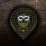Airsoft Soldier Face Embroidered Sleeve Iron-on / Velcro Patch