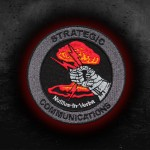 USA Strategic Communications Nullius in Verba Embroidered Iron-on / Velcro Patch