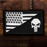 The Punisher USA Movie Embroidered Sleeve Iron-on / Velcro Patch