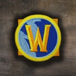Patch thermocollant / velcro avec broderie logo World of Warcraft