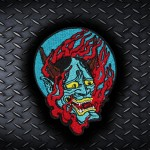 Devil Oni Demon's Embroidered Back Sleeve Patch 2