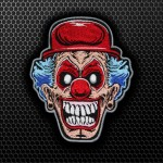Twisted Metal Game Clown Logo Embroidery Iron-on / Velcro Patch