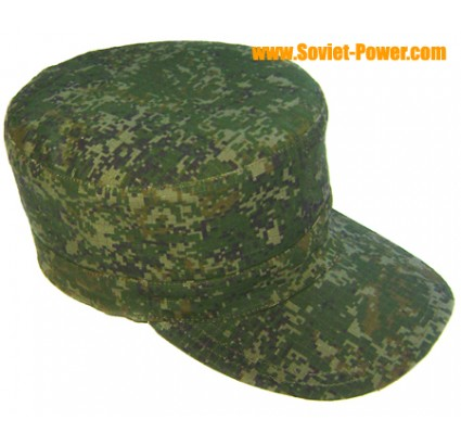 Russian Army DIGITAL green camouflage Pixel cap Rip-Stop