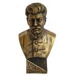 Busto di bronzo russo sovietico di Stalin