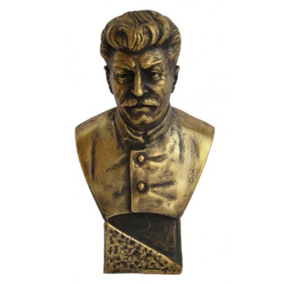 Soviet Russian Bronze bust of Stalin
