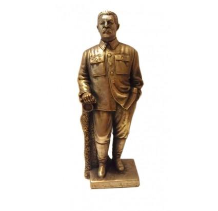 Sowjetische Büste der hohen russischen Bronzestatue von Stalin