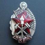 "Sowjetische NKVD-Medaille ""Bester Feuerwehrmann"""