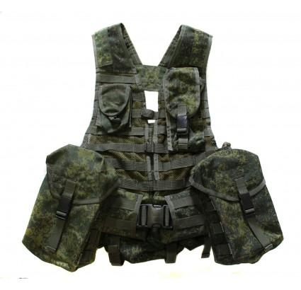 El chaleco 6SH112 del ejército ruso LBV para el arma de mano Kalashnikov RPK74
