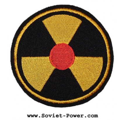 Radioaktive Strahlung Symbol Tschernobyl-Patch 97