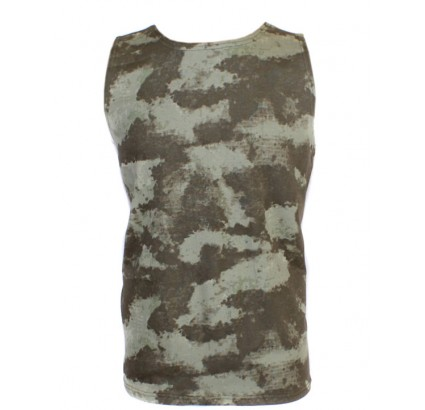Tactique SAND militaire camo sans manches T-shirt