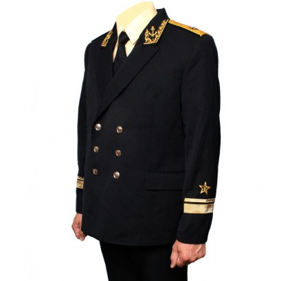 Russische Marine-Flotte ADMIRAL Stickerei schwarzer Uniform Kit