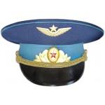 Gorra de visera del oficial de desfile de la Fuerza Aérea Rusa