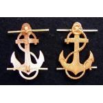 2 Soviet Naval ANCHOR pin badges
