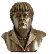 Chancellor of Germany bust Angela Merkel