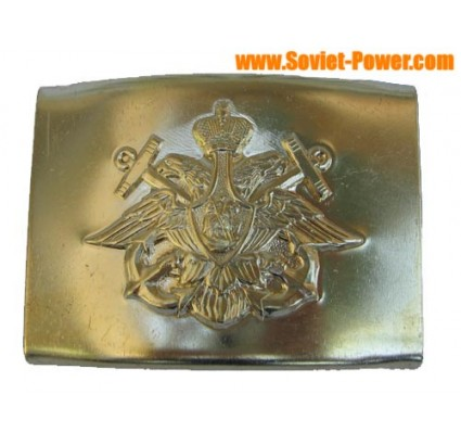 Russian Navy officers buckle for belt With two Anchors