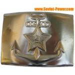 Boucle dorée de la marine russe pour la ceinture d'officier suprême