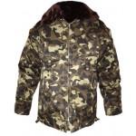 ロシア空軍役員はファー付き暖かいジャケットをカモフラージュ