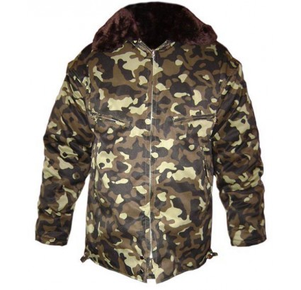 Russian Air Force Officers CAMO warm Jacket with fur
