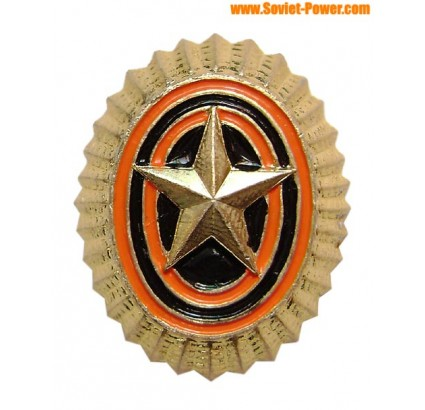 Soviet Army Marines star hat badge